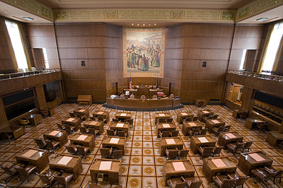 Senate Chamber in the Oregon State Capitol
