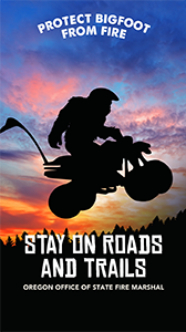 "Bigfoot ""When You're stay on the roads and trails"" Wallpaper"