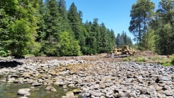 South Fork McKenzie River sediment placement
