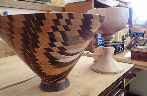 wooden bowl and chalice