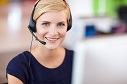 smiling customer service person