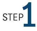 "Graphic with the word ""Step"" and the number 1."