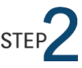 "Graphic of the word ""step"" and the number 2"