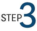 "Graphic of the word ""Step"" and the number 3."